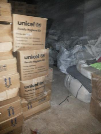 UNCEF Supplies For Refugees Found in Assad Military Stores
