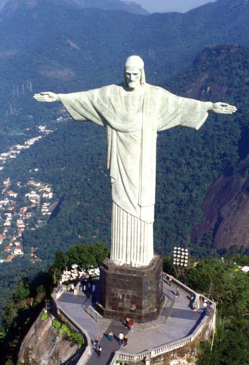 Christ The Redeemer Hd Wallpaper Off The Brochure Travel Guide Rio De Janeiro Brazil
