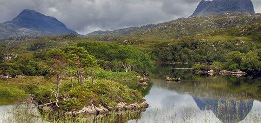 Canisp & Suilven viewed across Loch Druim Suardalain