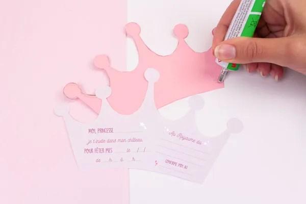 Invitaciones de cumpleaños en forma de corona I Taller Petit-Fernand ES
