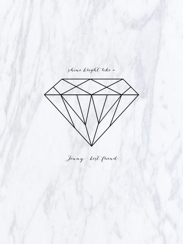 Black Rose Wallpaper Diamant Marmor
