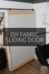 DIY Fabric Sliding Door - Petite Modern Life