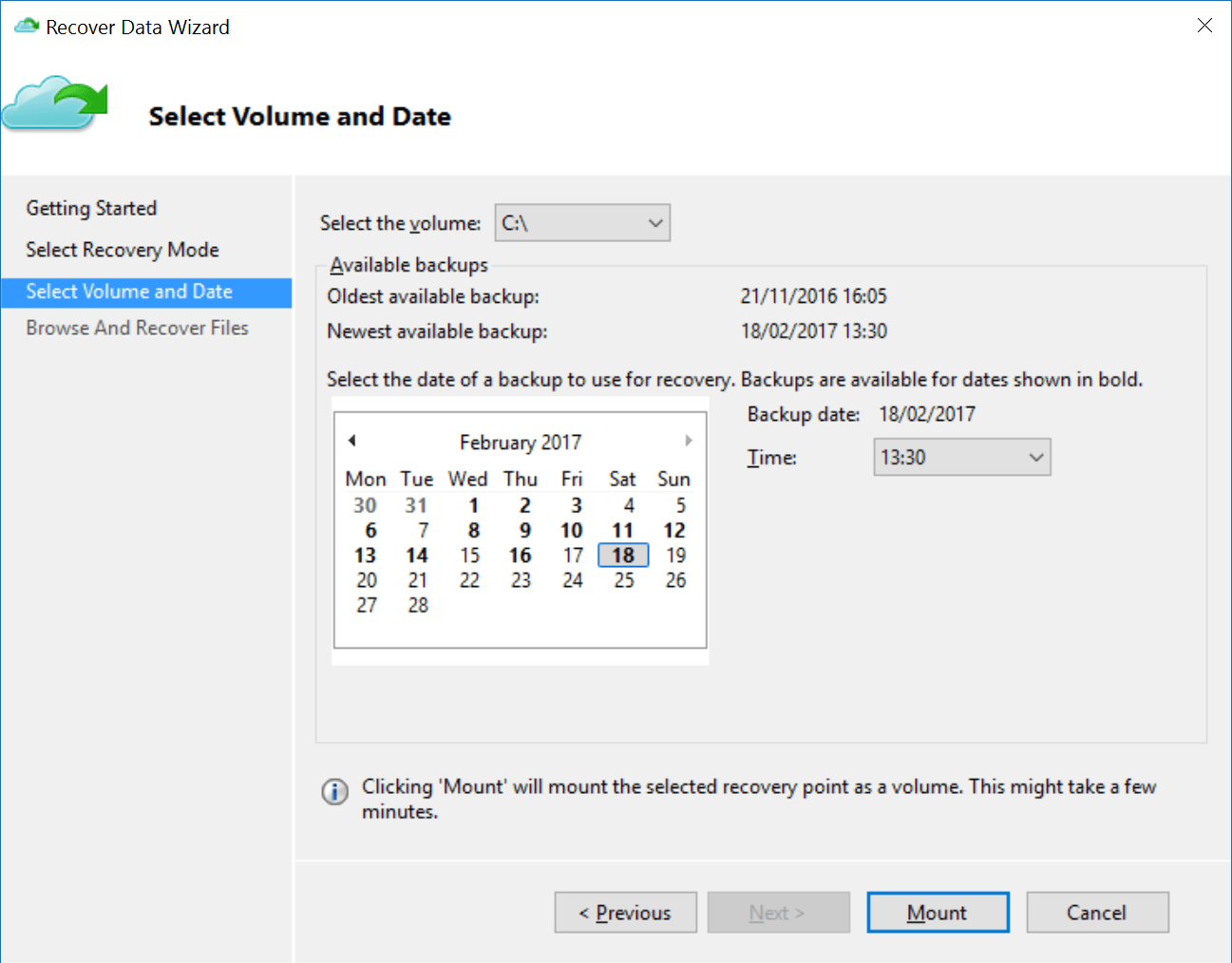 How Calendar Was Created By Backup Export Or Backup Email Contacts And Calendar To An Using On Premises Azure Backup Instant File Recovery Petri