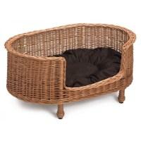Prestige Wicker Luxury Oval Dog Bed Basket Settee Large