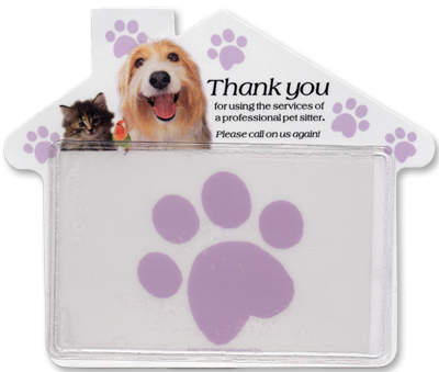 Promotional pet sitter thank you magnets Customize this magnet