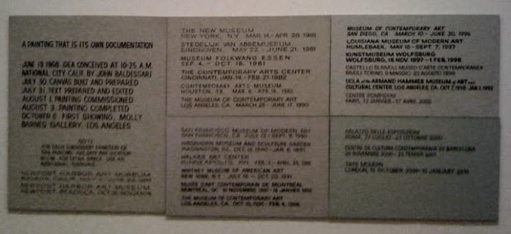John Baldessari | Tate Modern | pettydesign