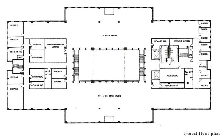 Pedagogy and Place: University of Houston College of Architecture | James Petty | pettydesign | typical floor plan