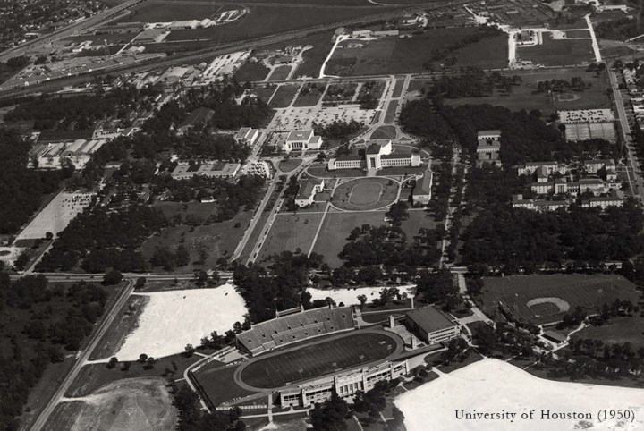 Pedagogy and Place: University of Houston College of Architecture | James Petty | pettydesign | 1950 Aerial