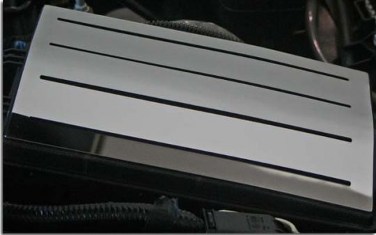 Polished Stainless Fuse Box Top Plate for 2010 2011 2012 2013 Camaro