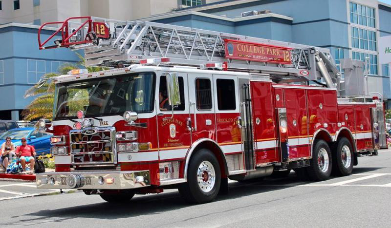 College Park Volunteers House New Ladder Truck Prince