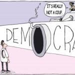 """Eindeutig mehr Ahnung von Thailand als der Leiter des Bangkoker Büros der """"Friedrich-Naumann-Stiftung-für-die Freiheit"""" haben derzeit die Karikaturisten. (Zeichnung: © Shucking Korn)"""