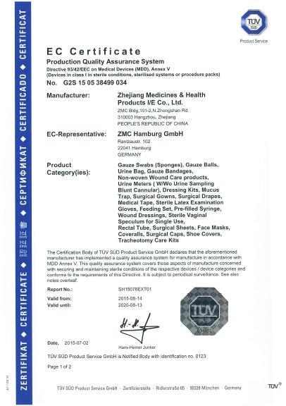 Quality Control - ZHEJIANG MEDICINESHEALTH PRODUCTS I/E CO,LTD