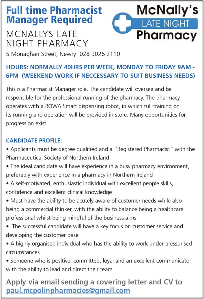 Cv Services Dublin 15 Jobs In Dublin West Material Handler Dublin 15 Vwr Recruitment Pharmacy In Focus