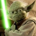 yoda with light saber