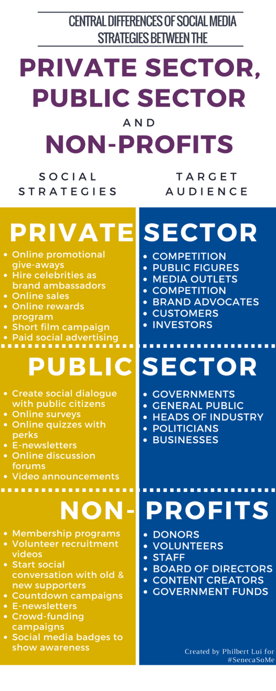 Infographic - social strategy for private public & nonprofits