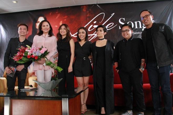 MMK host Charo Santos with MMK Life Songs album producer Jonathan Manalo and Kyla, Jona, KZ, Aiza, and Noel (1)