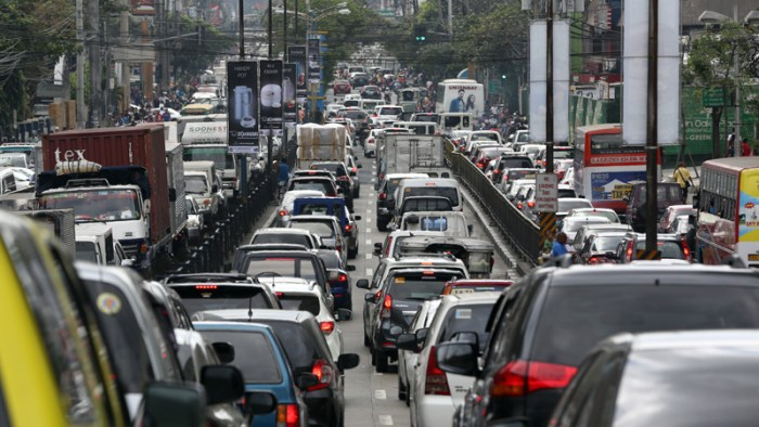 Daily traffic gridlocks are common in Metro Manila.