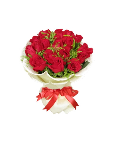 24 Red Roses Hand Tied Bouquet Send to Philippines,Roses Bouquet to