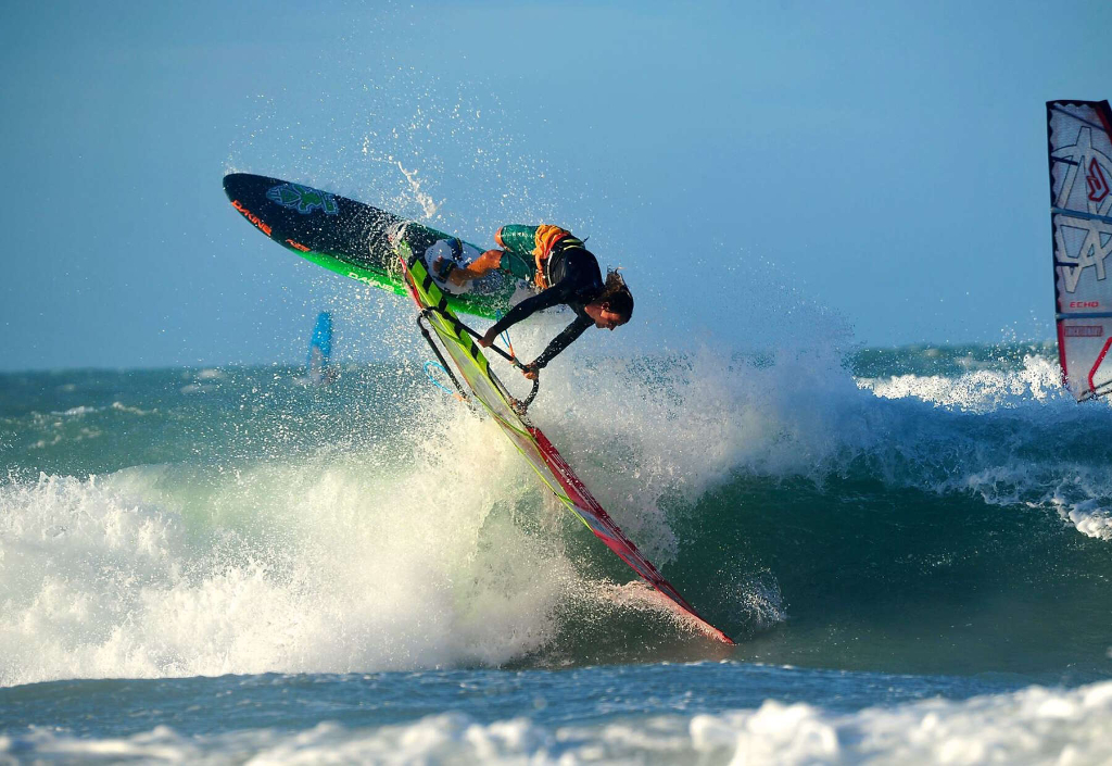 Phil Soltysiak CAN 9 Windsurfing in Jericoacoara, Brazil.