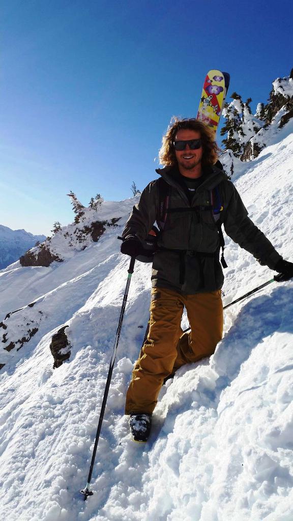 Phil Soltysiak climbing Mount Mackenzie.