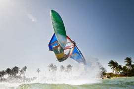 Phil Soltysiak CAN 9 Windsurfing at Manglillo, El Yaque Beach, Isla Margarita, Venezuela. Photo by Tom Brendt.