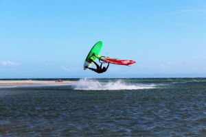 Phil Soltysiak CAN 9 Windsurfing at La Punta, El Yaque Beach. Photo by Lisa Pina.