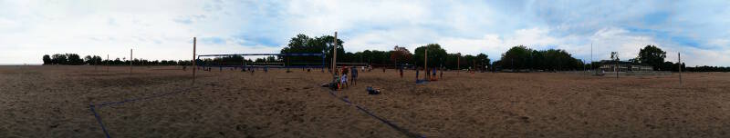 Ashbridges Bay has over 90 beach volleyball courts - my favourite place to play!