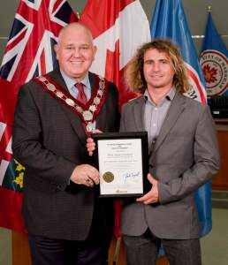 Phil Soltysiak and Markham's mayor Frank Scarpitti