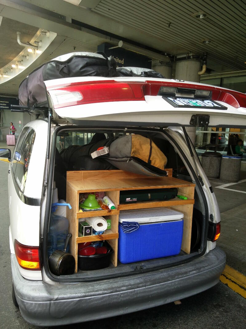 The set up in my campervan.