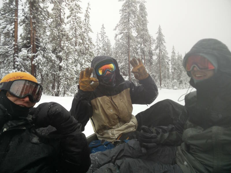 Stoked on the snow!