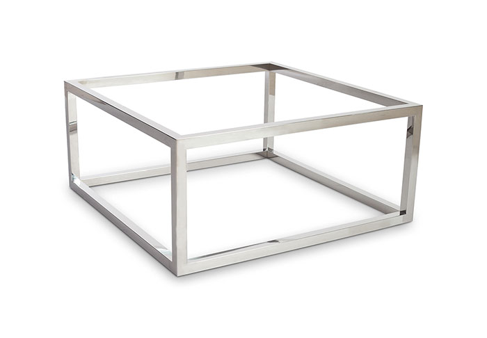 Coffee Table Base / Square, Stainless Steel, Base Only