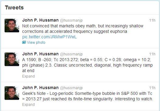 Hussman Tweets