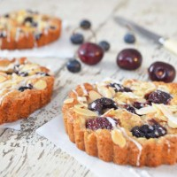 warm cherry tart {gf, vegan}