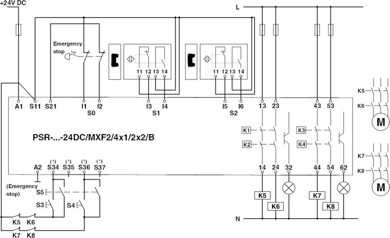 phoenix contact safety relay wiring diagram