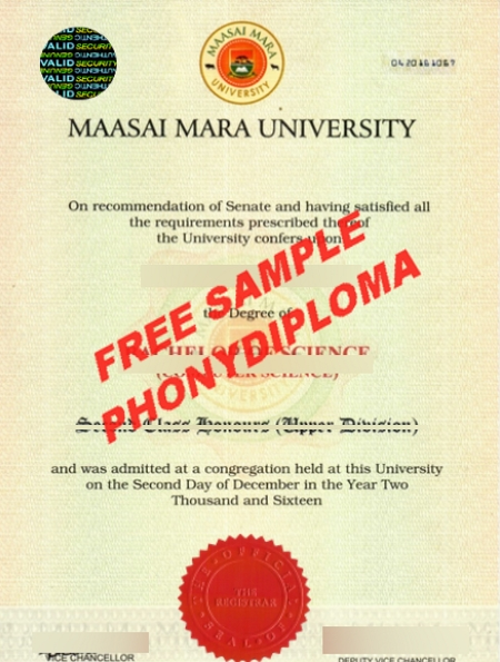 Fake Diploma Samples from Africa - PhonyDiploma