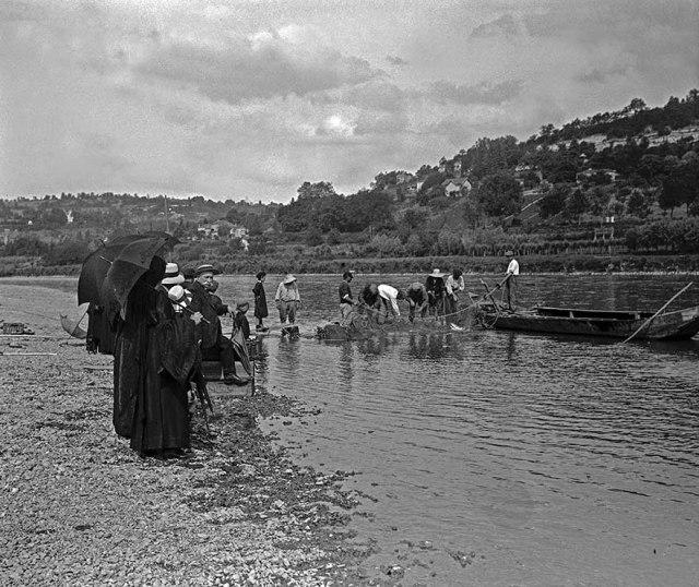 Pêche à l'Alose sur la garonne 1913 ©photo Patrick Clermont