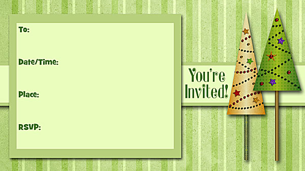 Christmas Trees Invitations - Free Printable Fill-In Holiday Party - holiday party invitations free