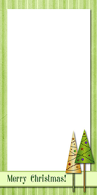 Christmas Trees Note Paper - Free Printable Holiday Stationery