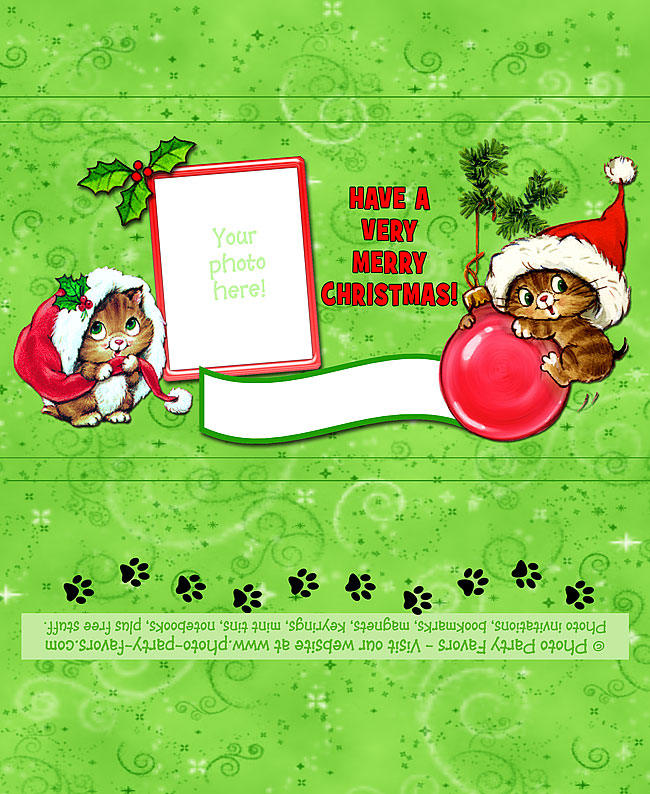 Christmas Kittens Candy Bar Wrapper - Free Printable Holiday