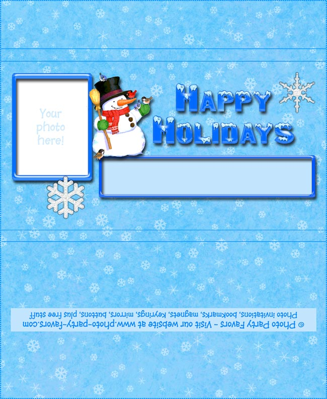 Snowman Holiday Chocolate Bar Wrapper - Free Printable Candy Bar Wrapper