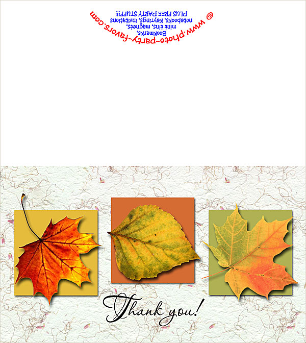 Free Printable Fall Colors Thank You Card - From Photo Party Favors