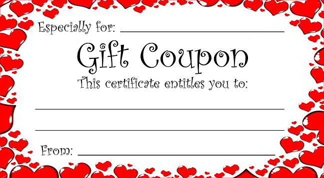 make your own coupon template - print your own voucher