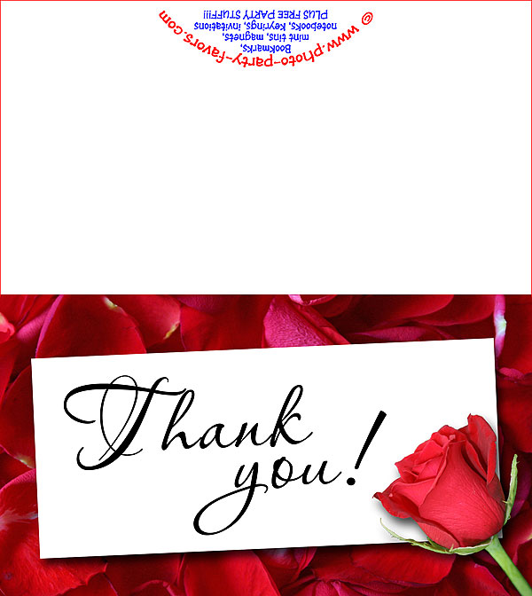 Rose Thank You Card - Free Printable Thank You Cards