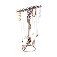 2-Tier Metal Earring Necklace Jewelry Holder Stand ...