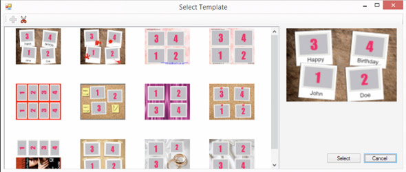 4Up Image Layout - 4up template