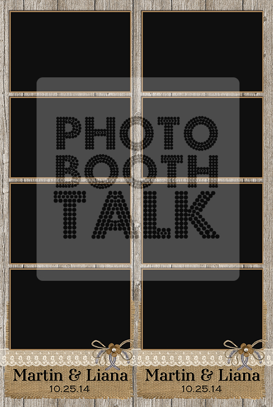 Rustic-Love-2×6-4UP-Photo-Booth-Template Photo Booth Talk - 4up template