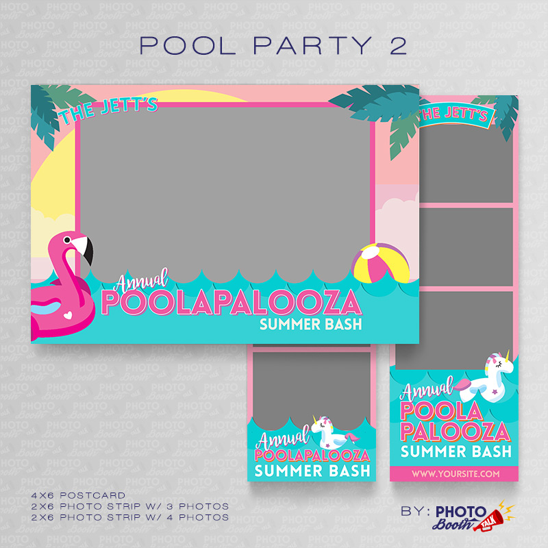 Pool Party 2 \u2013 Photoshop PSD Files Photo Booth Talk - po booth template