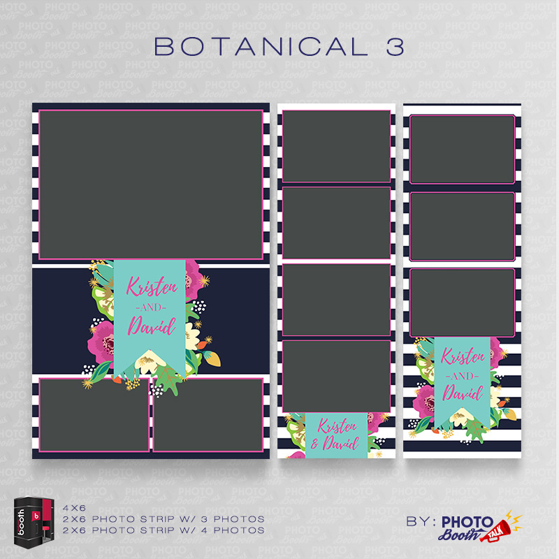 Botanical 3 \u2013 For Darkroom Booth Photo Booth Talk - po booth template