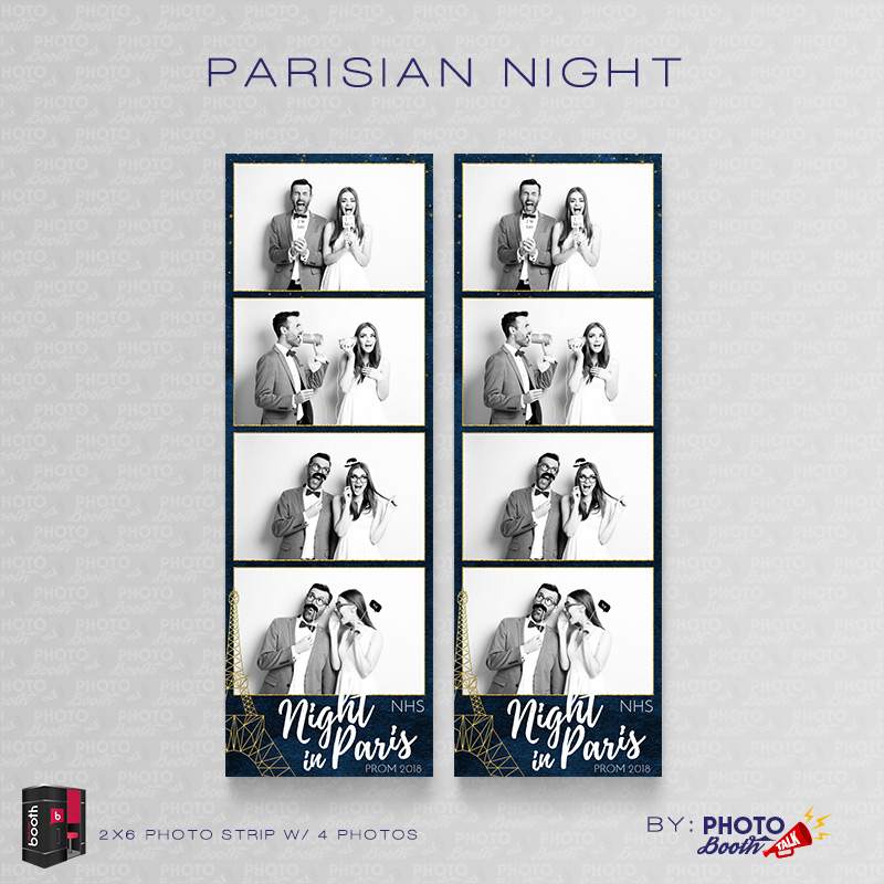 Parisian Night \u2013 For Darkroom Booth Photo Booth Talk - 4up template