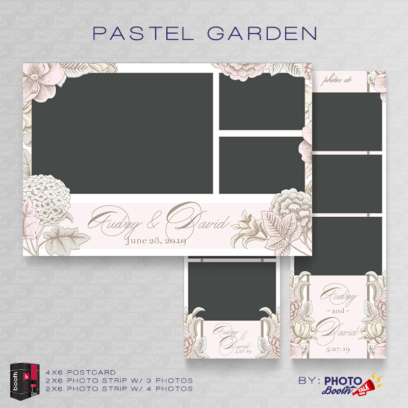 Pastel Garden \u2013 For Darkroom Booth Photo Booth Talk - po booth template